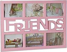 Relaxdays Bilderrahmen Freunde, Galerierahmen für