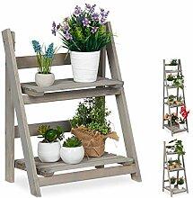 Relaxdays Blumentreppe, 2-stufig, Blumenleiter