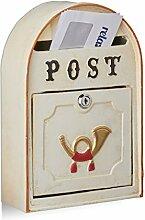 Relaxdays Briefkasten antik, Western Vintage