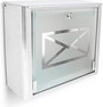 relaxdays Briefkasten Briefkasten Glas mit