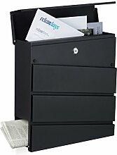 Relaxdays Briefkasten Design, Modern, mit