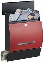 Relaxdays Design Briefkasten mit Zeitungsfach,