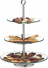 Relaxdays Etagere, 3 Etagen, rund, Cupcake, Keks,