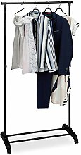 Relaxdays Fahrbarer Kleiderständer, stabile