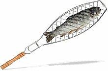 Relaxdays Fischbräter 50 cm lang, Grill
