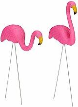 Relaxdays Flamingo Figur 2er Set, niedliche