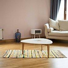 Relaxdays Flickenteppich 70 x 140 cm mit Fransen