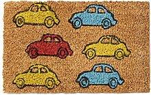 Relaxdays Fußmatte Kinder mit Bild Motiv Autos