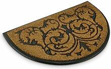 Relaxdays Fußmatte Kokos halbrund 100 x 60 cm