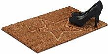 Relaxdays Fußmatte Stern aus Kokos, H x B x T: