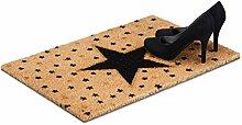 Relaxdays Fußmatte Stern aus Kokos, HBT: 1,5 x 60