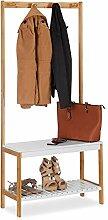 Relaxdays Garderobenständer mit Schuhregal, 4