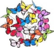 relaxdays Gartenfigur Gartendeko Schmetterling