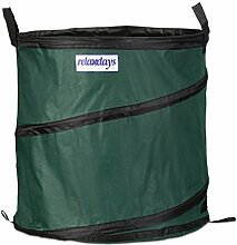 Relaxdays Gartensack Pop Up 160 L, stabil, 3er Set