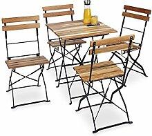 Relaxdays Gartenstuhl 4er Set, klappbar, Metall,