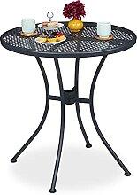 Relaxdays Gartentisch, mit Schirmloch,