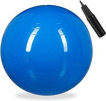 Relaxdays - Gymnastikball, Fitnessball Yoga &