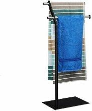 Relaxdays Handtuchhalter freistehend Chrom, edles