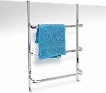 Relaxdays Handtuchhalter mit 3 Handtuchstangen