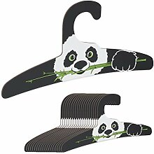 Relaxdays Kinderkleiderbügel, 20er Set, Panda