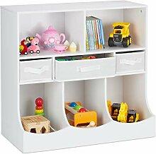 Relaxdays Kinderregal für Spielsachen & Bücher,