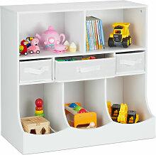 Relaxdays - Kinderregal für Spielsachen &