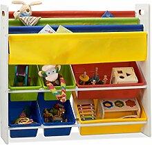 Relaxdays Kinderregal mit Regalboxen u.