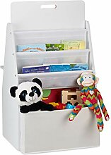 Relaxdays Kinderregal mit Tafel, Aufbewahrungsbox,