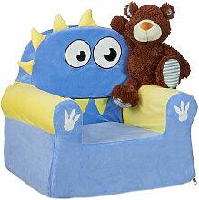 Relaxdays - Kindersessel, weiches Kindersofa für