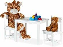Relaxdays Kindersitzgruppe, Maltisch mit 2