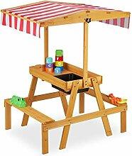 Relaxdays Kindersitzgruppe, Sitzbank mit
