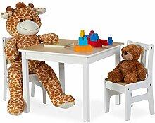 Relaxdays Kindertisch mit 2 Stühlen, Indoor