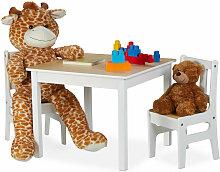 Relaxdays - Kindertisch mit 2 Stühlen, Indoor