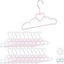 relaxdays Kleiderbügel 20 x Kinderkleiderbügel