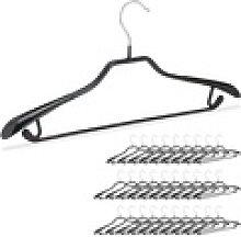 relaxdays Kleiderbügel 30 x schwarze Anzugbügel