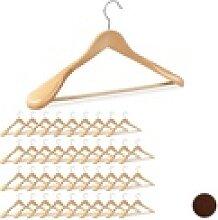 relaxdays Kleiderbügel 40 x Anzug Kleiderbügel