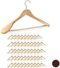 relaxdays Kleiderbügel 50 x Anzug Kleiderbügel
