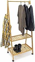Relaxdays Kleiderständer Bambus HBT ca. 154 x 63