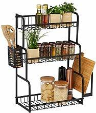 Relaxdays Küchenregal für Arbeitsplatte, 3