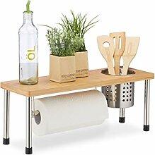 Relaxdays Küchenregal für Arbeitsplatte,