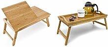 Relaxdays Laptoptisch aus Bambus &  Betttablett