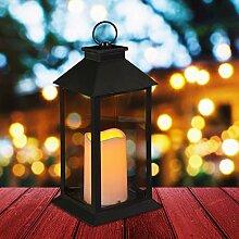 Relaxdays LED, Kerze mit Flammeneffekt, Outdoor
