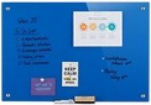 relaxdays Magnettafel Glas Magnettafel blau