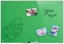 relaxdays Magnettafel Glas Magnettafel grün