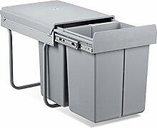 Relaxdays Mülltrennsystem 40 Liter, HxBxT: 41,8 x