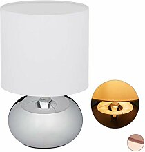Relaxdays Nachttischlampe Touch dimmbar, moderne