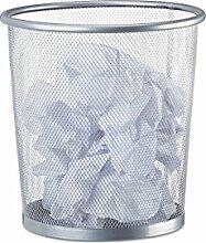 Relaxdays Papierkorb Metall, Abfalleimer aus