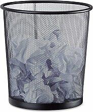 Relaxdays Papierkorb Metall, Mülleimer aus