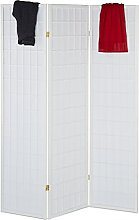 Relaxdays Paravent, HxB: 179 x 132 cm, Faltbarer