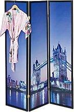 Relaxdays Paravent London, HxB 179 x 132 cm,